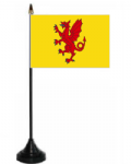 Somerset Desk / Table Flag with plastic stand and base.